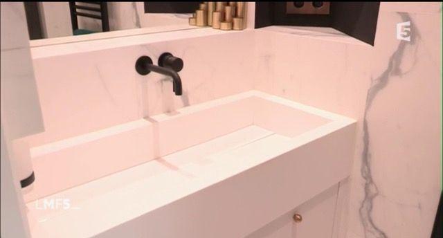 Salle de bain en marbre Lmf5 Salle de bain Pinterest