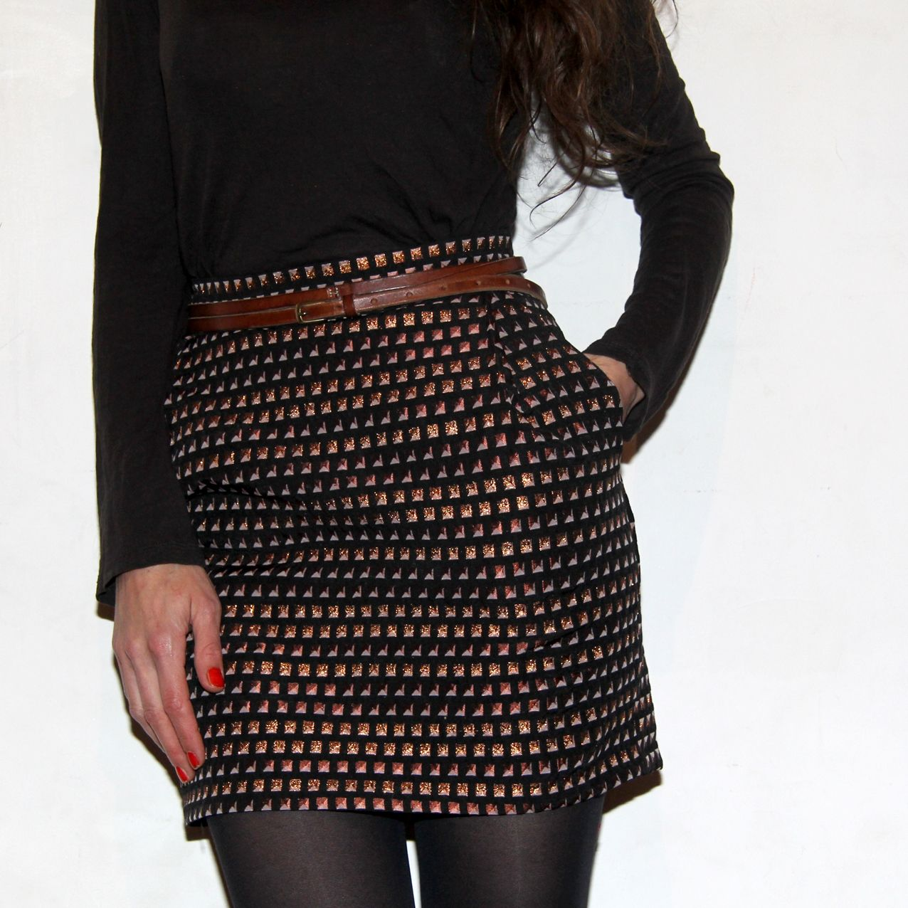 Midinette pyramides aime comme marie bobine et marie - Patron couture jupe droite ...