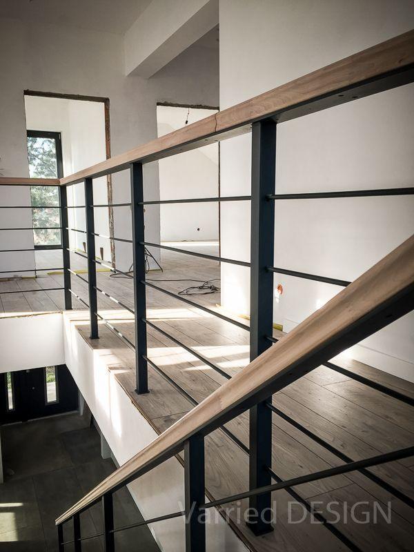 Schody konstrukcja metalowa metal stairs  barierka metalowaVarried DESIGN #stair…