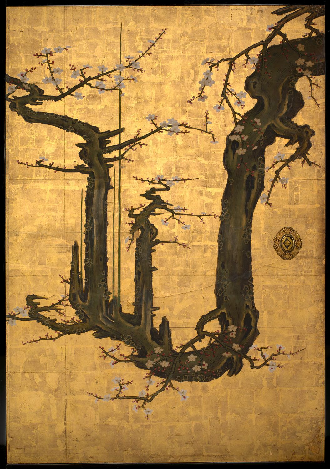 Chinese Art Gold Leaf Painting Images