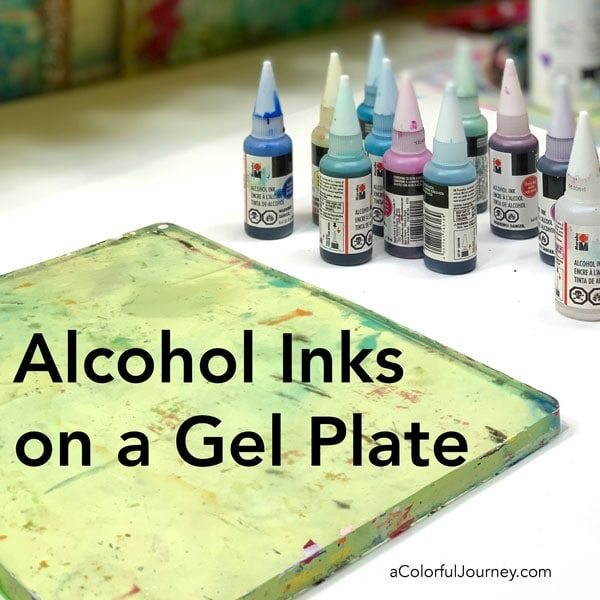 What happens when you add drops of alcohol inks on a gel plate? Fun and colorful prints! I've got a step-by-step video including how making 1 little change impacts what the final print looks like! Add your alcohol inks onto the gel plate. I love using Marabu inks for this because they are so vibrant …