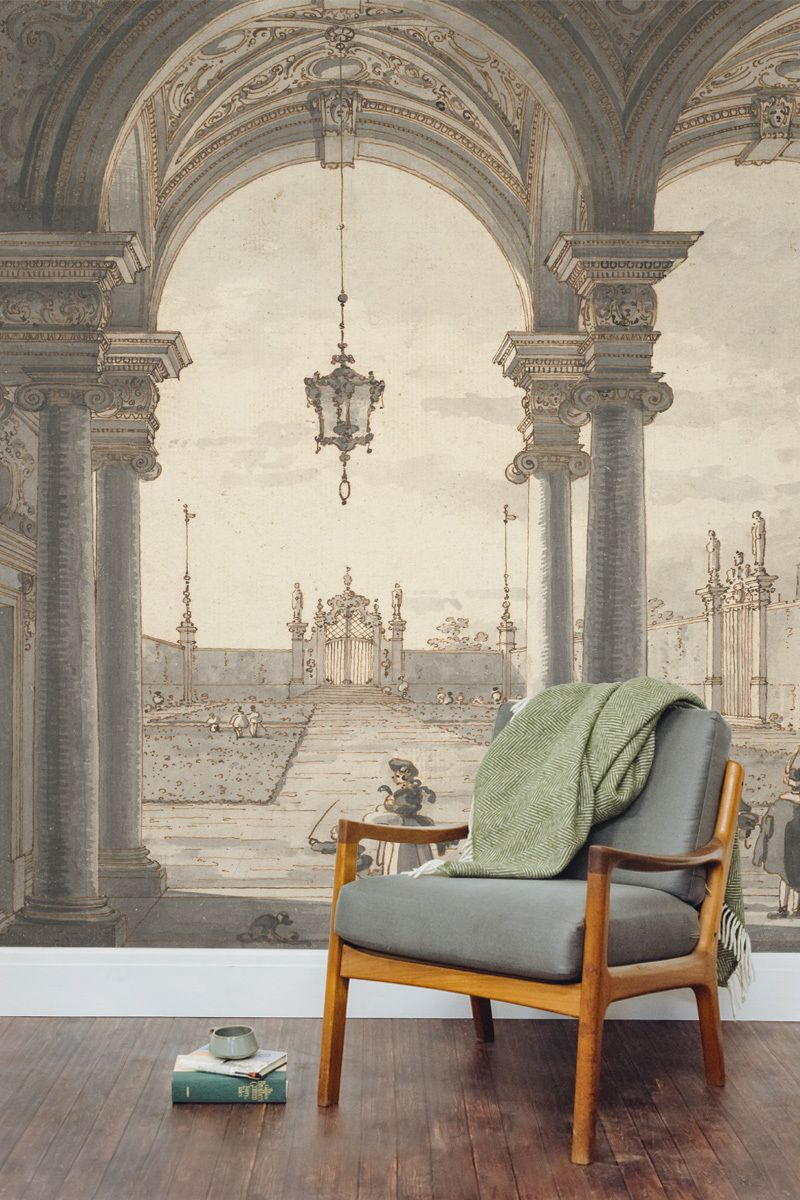 View Through A Baroque Colonnade By Canaletto Bedroom Murals