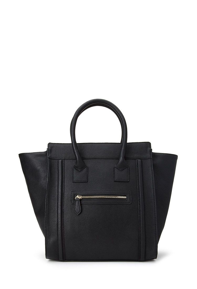5b8f98eb582c2a Celine -like Zippered Faux Leather Satchel from forever21 #Accessories # Handbag