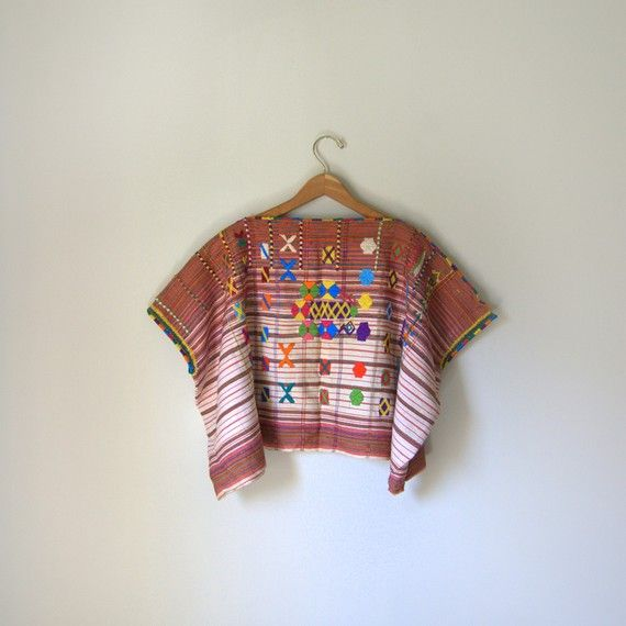 embroidered oxacan crop top