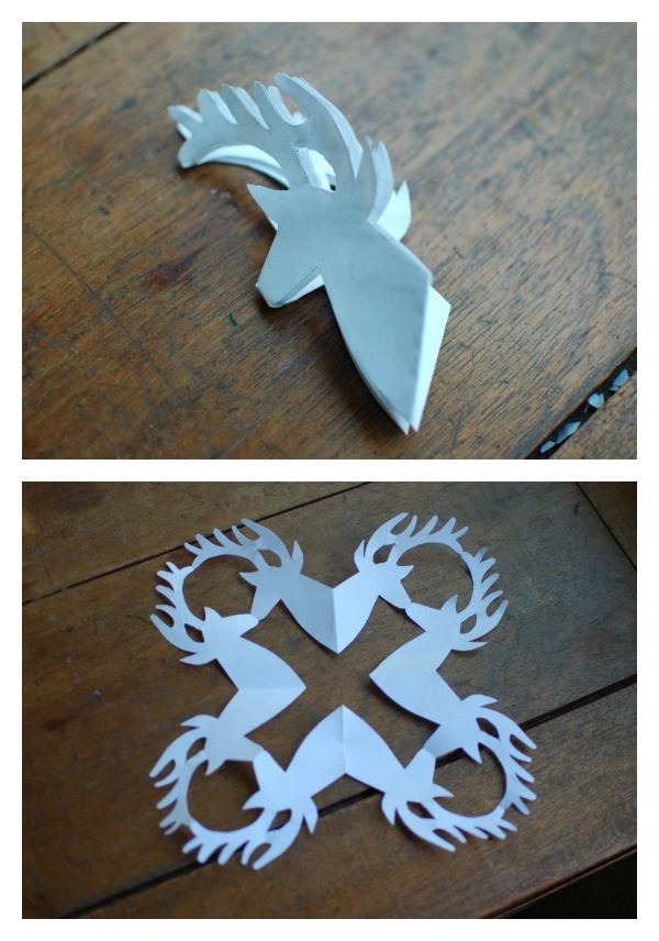 reindeer snowflake template  7+ cool snowflake patterns to make with kids. Or not ...