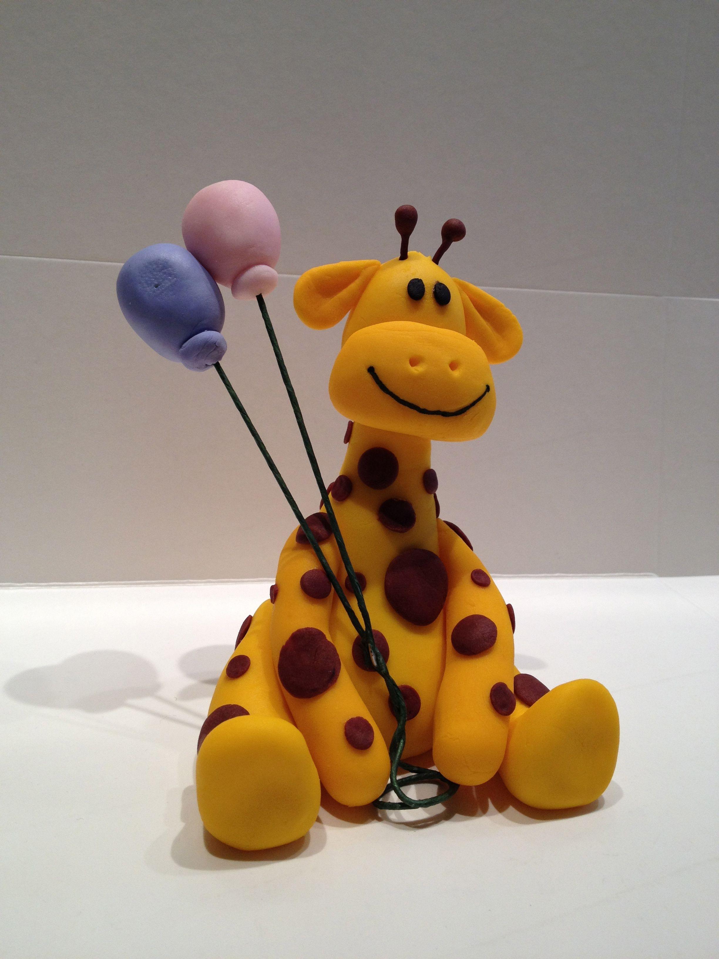 Baby giraffe cake topper ~Giraffe Birthday Party ...