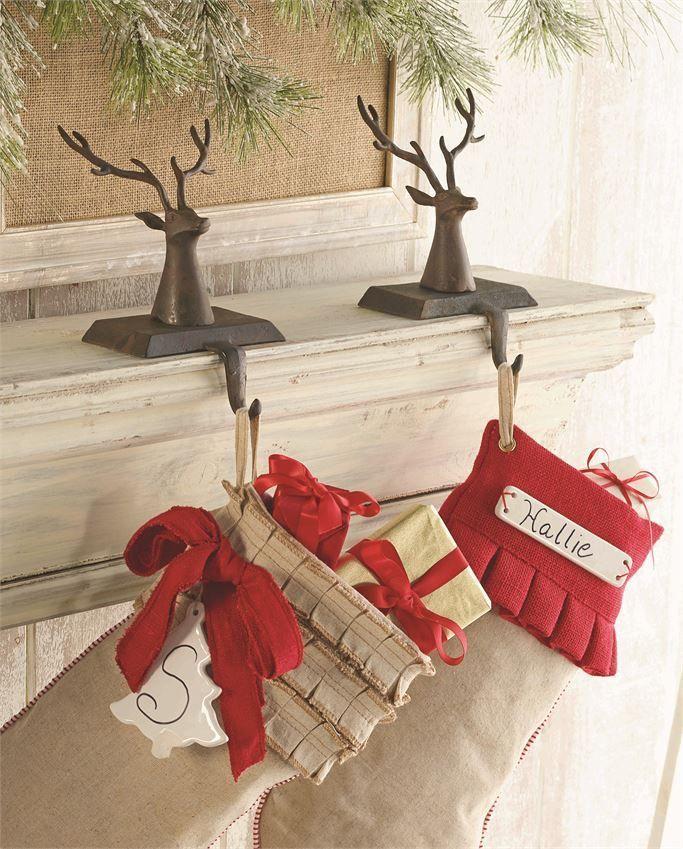 Deer Stocking Holder Xmas decorations, Stocking holders