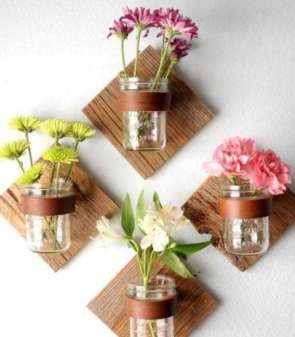Easy  Creative Decor Ideas - Mason Jar Wall Decor - Click Pic for