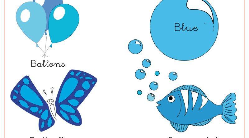 El Azul. Fichas para trabajar los colores | Χρώματα | Pinterest