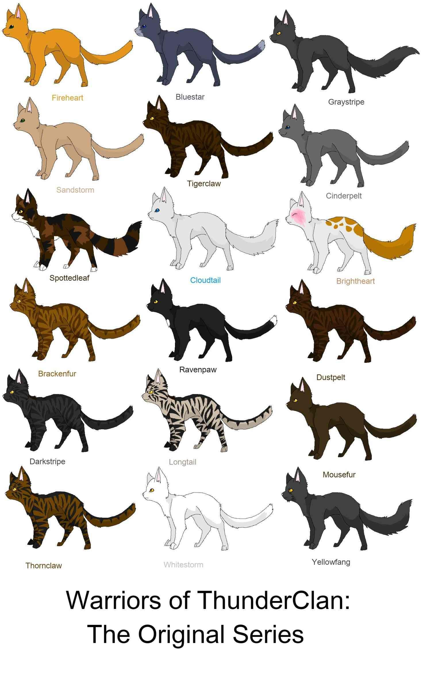 Image for warrior cats thunderclan cat names Warrior
