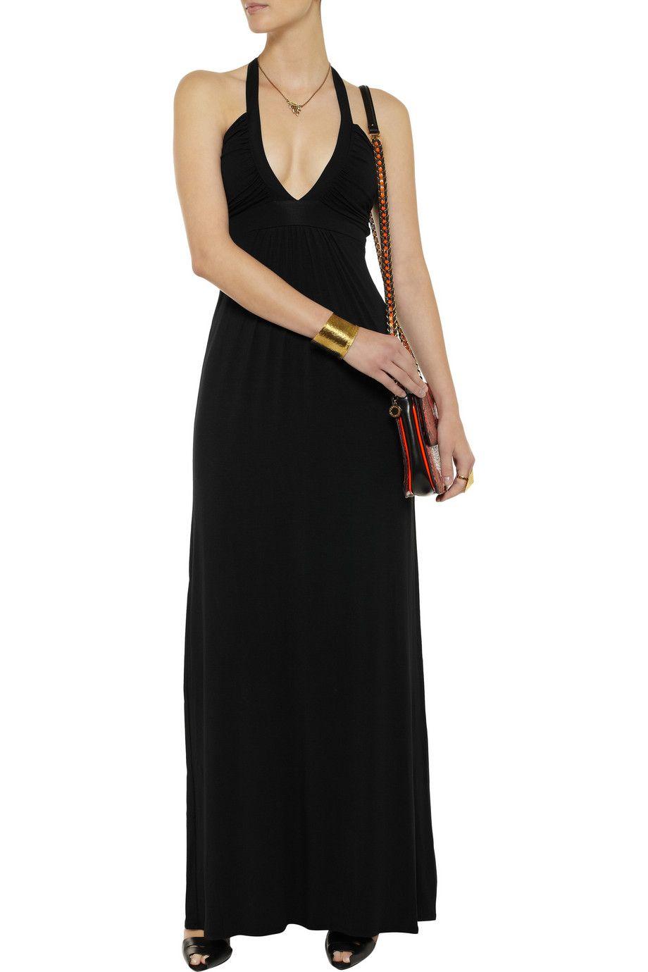 Tart Stretch-modal jersey halterneck maxi dress