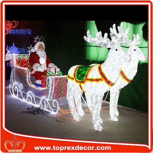 outdoor led lighted santa claus sleigh christmas decoration view 3d acrylic santa claus decoration - Outdoor Christmas Decorations For Sale