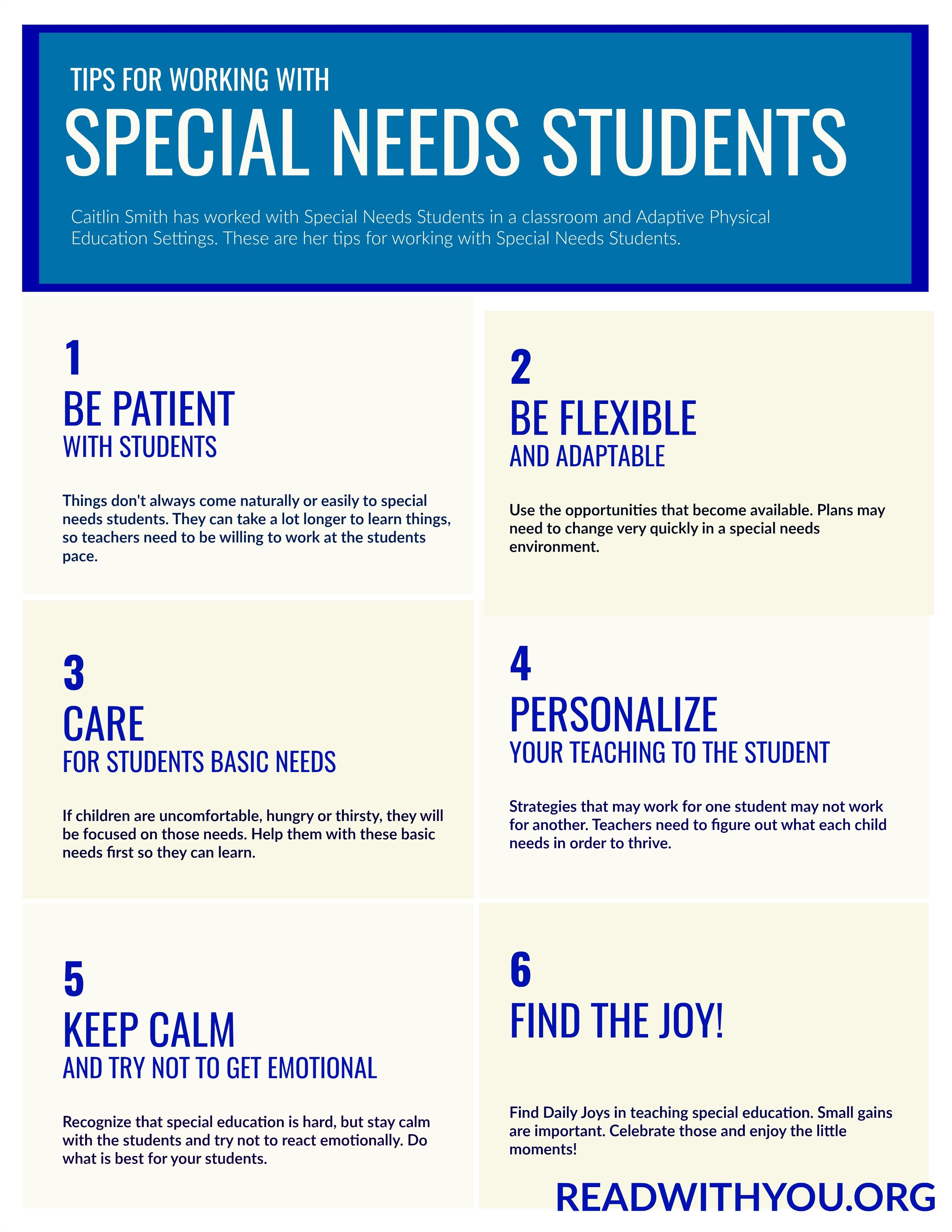 Tips For Working With Special Needs Students Help For