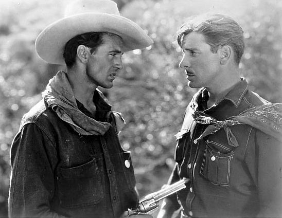 Ronald Colman and Gary Cooper in The Winning of Barbara Worth (1926).