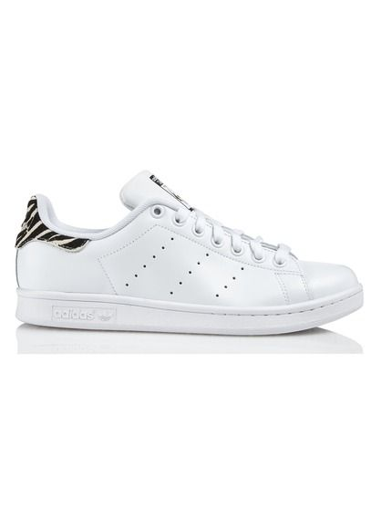 magasin d'usine 8ba09 5a9bd Baskets Stan Smith Blanc cuir talon plat Adidas pour femme ...