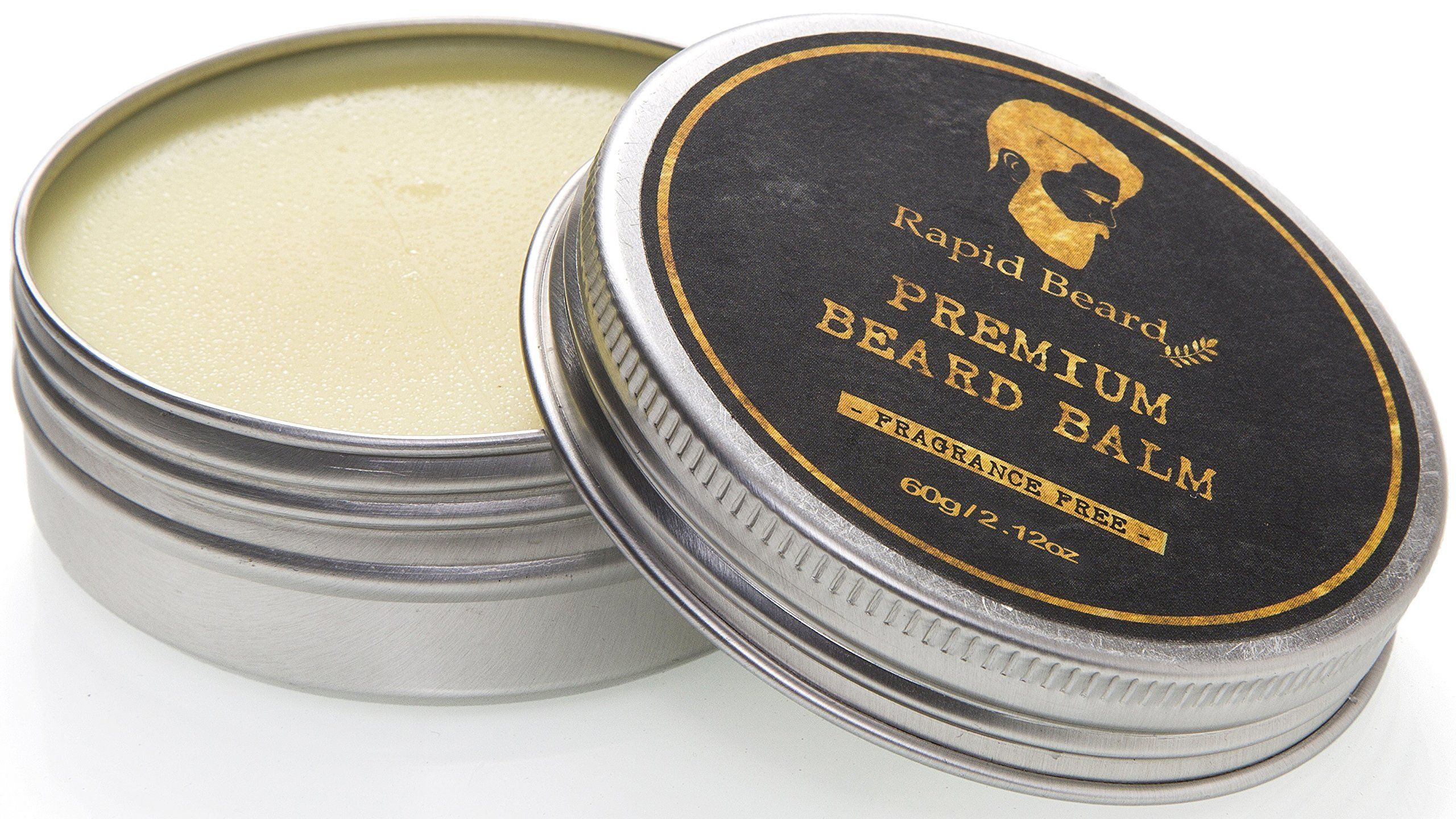 Beard oil and beard balm kit for men care unscented leave