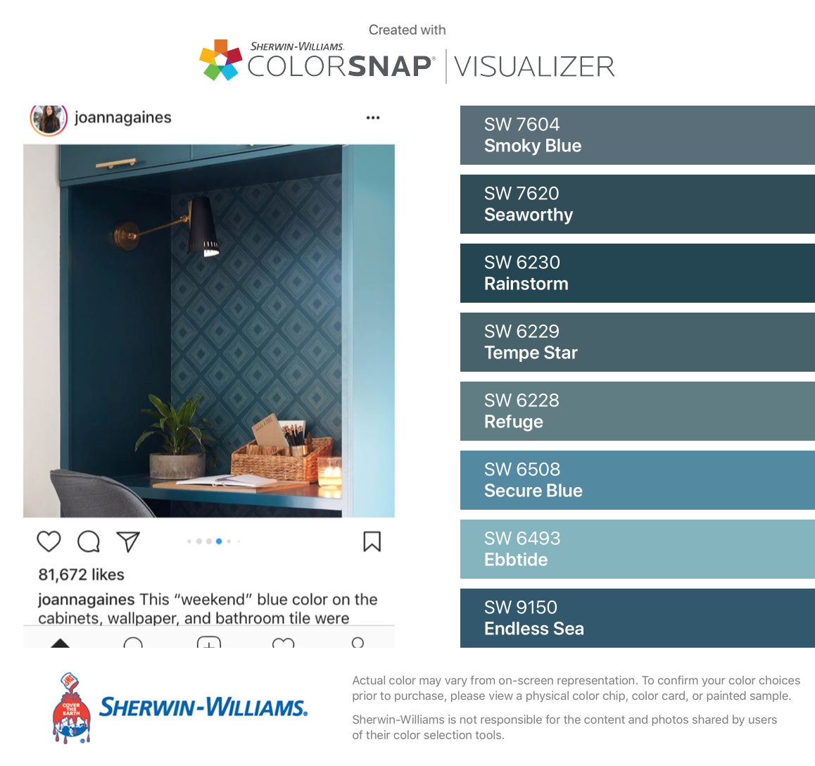 I Found These Colors With Colorsnap Visualizer For Iphone By Sherwin Williams Smoky Blue Sw 7604 Seaworthy Sw 7620 Rain House Colors Color Paint Colors