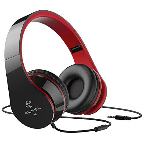AILIHEN Wired Headphones with Microphone, Stereo Foldable