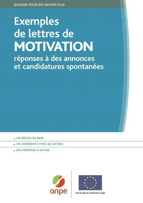 Exemples De Lettres De Motivation Exemple De Lettre De Motivation Lettre De Motivation Exemple De Lettre