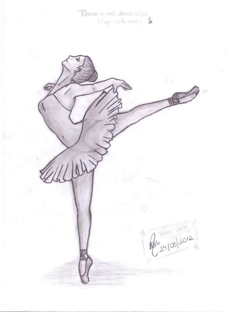 Рисунки для срисовки балерины легко