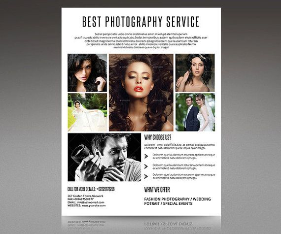 Photography flyer Promotional flyer designPF-009 by TemplateStock - photography flyer
