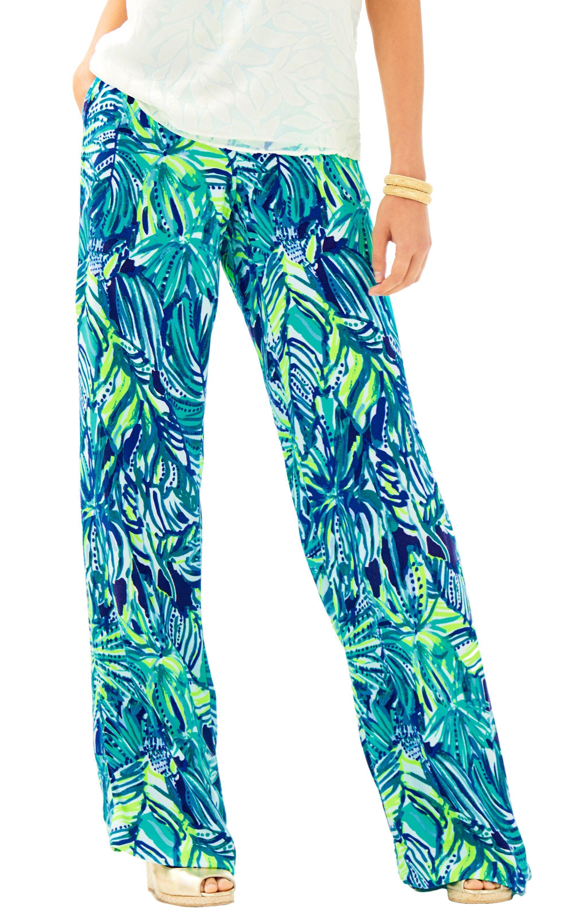 4ed4c0d1ee LILLY PULITZER ISLAMORADA BEACH PALAZZO PANT - Bright Navy Armadilly Dally.  #lillypulitzer #cloth #
