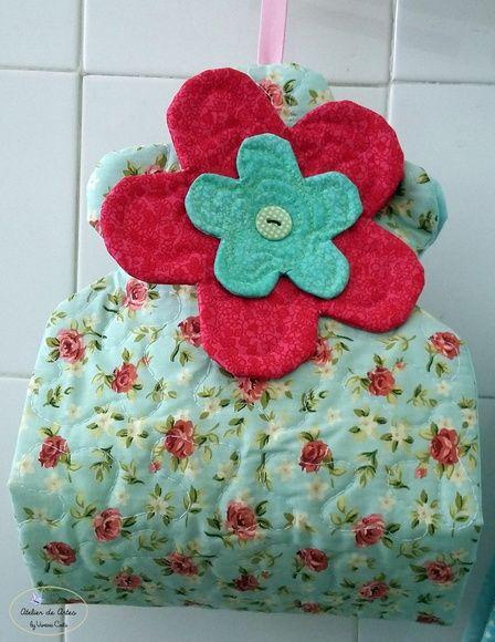 Porta papel higienico de flor