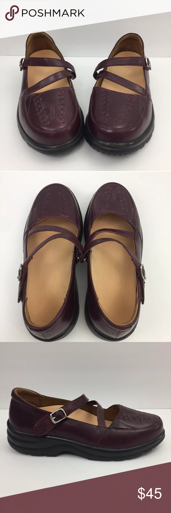 51a244d321ab Dr Comfort Betsy Shoes Size 5.5 W Mary Janes Dr Comfort Betsy Women Size  5.5 Wide Burgundy Mary Jane Diabetic Orthopedic Shoe Condition  very gentle  signs ...