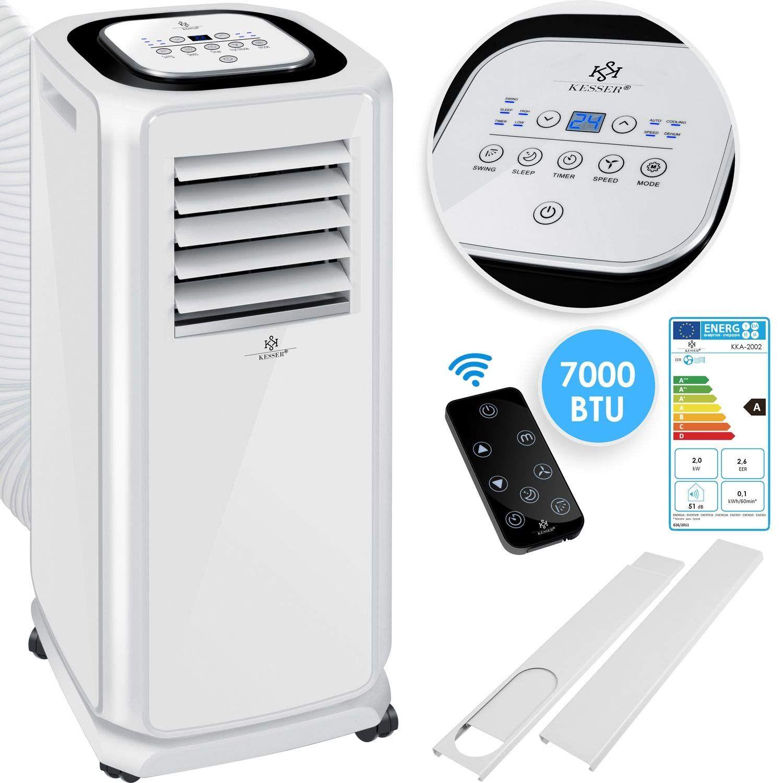 Kessera Klimaanlage Mobiles Klimagera T 4in1 Kaœhlen Luftentfeuchter Laœften Ventilator 7000 In 2020 Fernbedienung Mobile Klimaanlage Mobiles Klimagerat