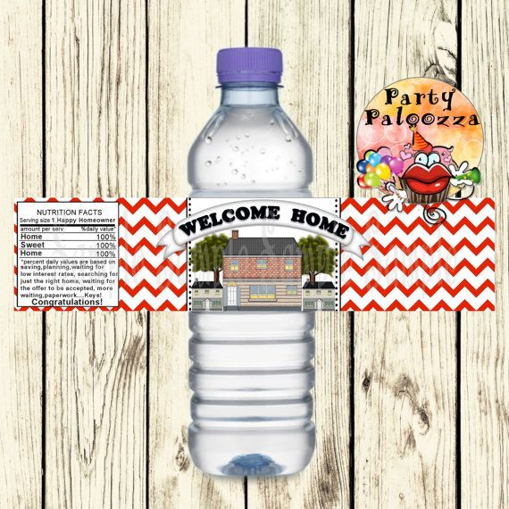 Realtor Water Bottle Labels