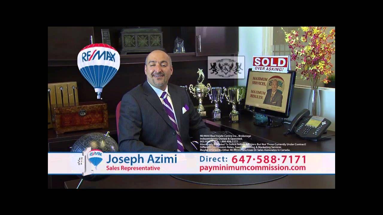 Best Real Estate Agent In Toronto Joseph Azimi Top Real Estate Agents Real Estate Agent Brampton