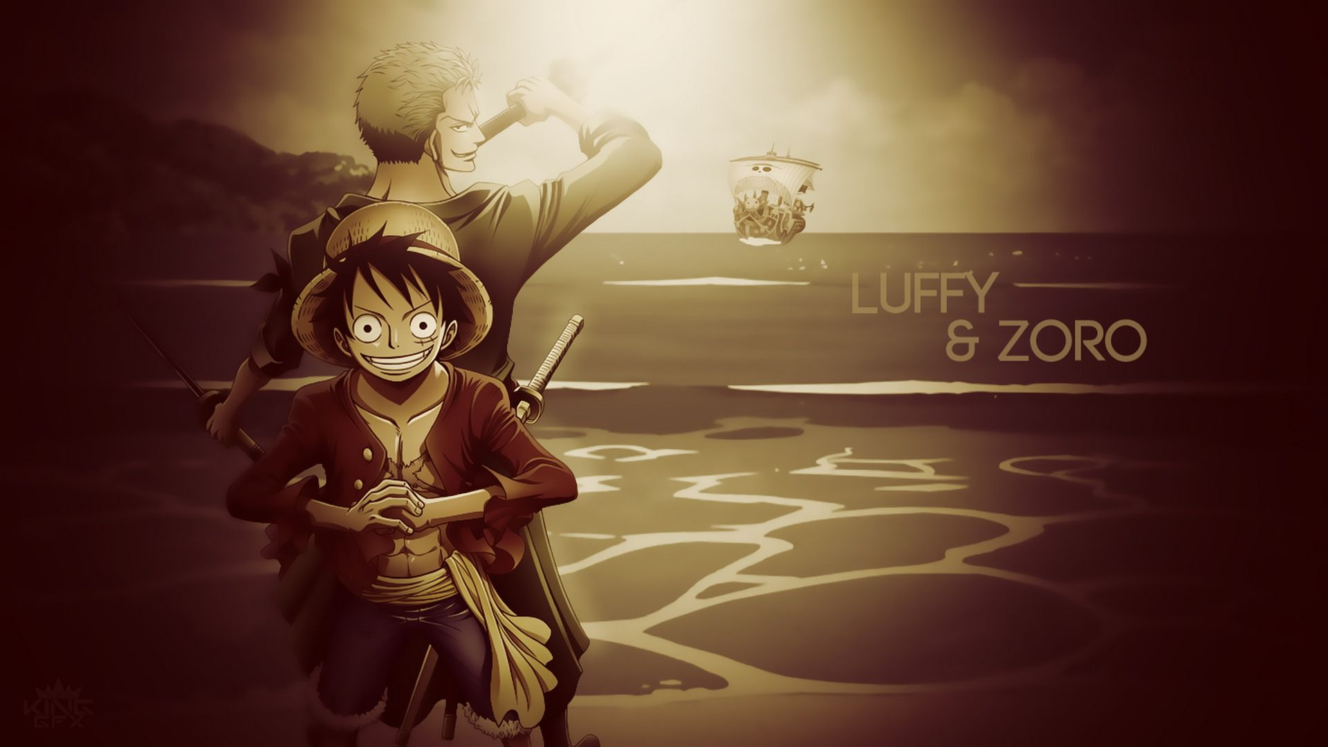 One Piece Luffy And Zoro After 2 Years Wallpaper Anime Images