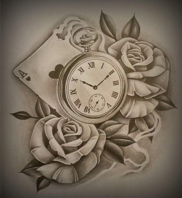 Tattoo Designs Roses And Clock: Tatuajes De Rosas, Tatuajes De
