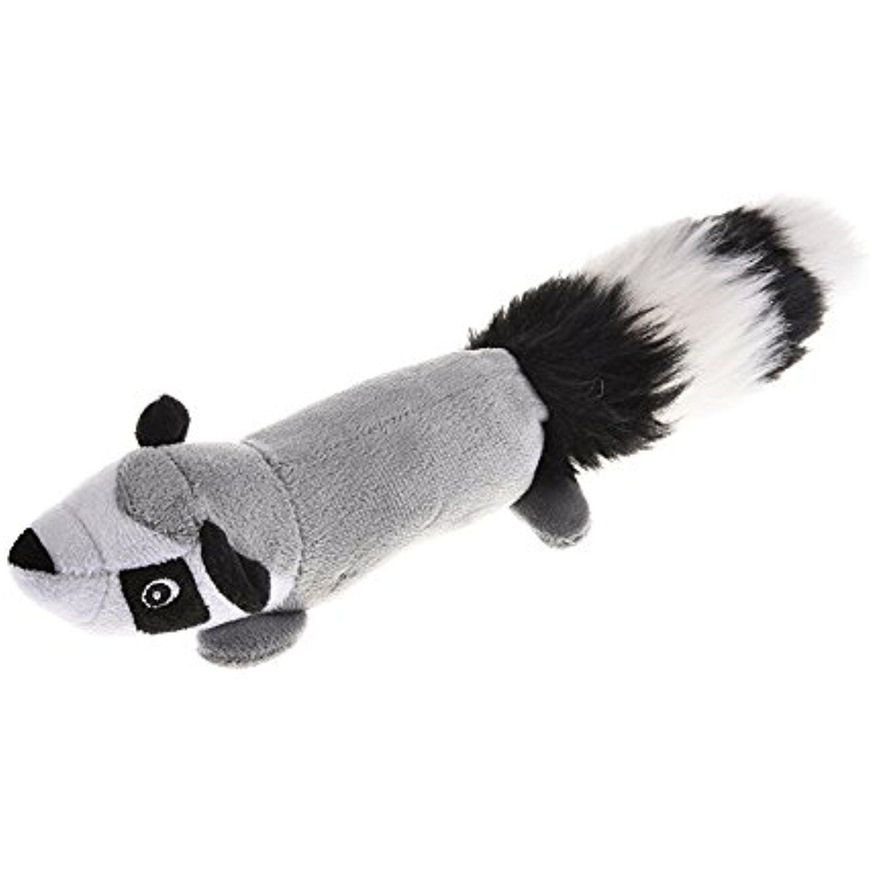 Yunt Pet Plush Chew Toy Durable Squeak Dog Toy Skunk Squeaky Sound