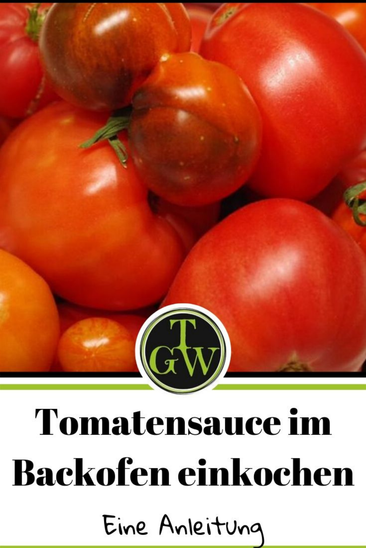 Tomatensugo im Backofen einkochen