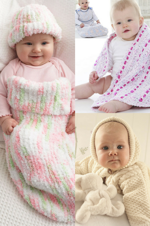 Adorable Baby Cocoons: 10 Free Knitting Patterns | Baby sleep bags ...