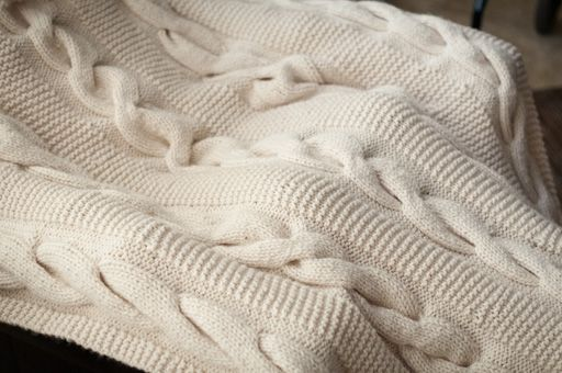 Chunky Cable Knit Throw Blanket Easy Video Tutorial Knitted