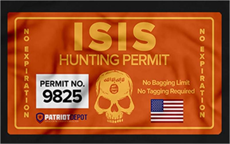 Isis Hunting Permit Proud Infedel Al Qaeda Military Politics