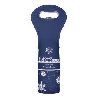 Winter Snowflake, Holiday Wine Bag