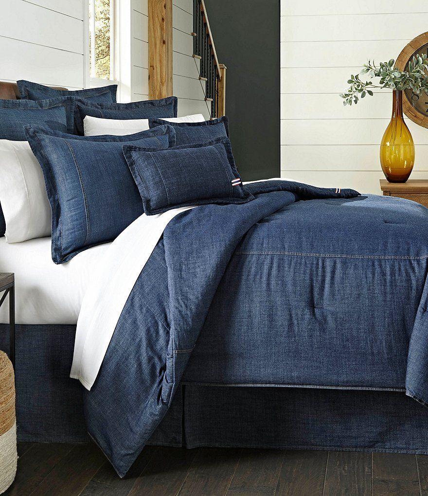Cremieux Cotton Denim Comforter Denim Comforter Comfortable