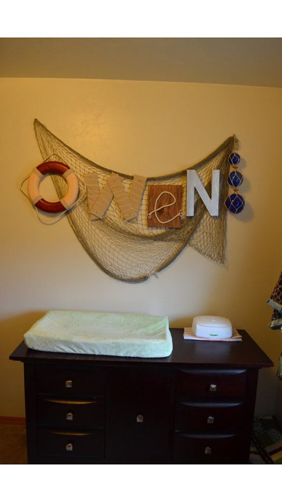 Nautical Decor Large Wall Letter By Brynnicholle On Etsy Fish Themed Nurseryfishing