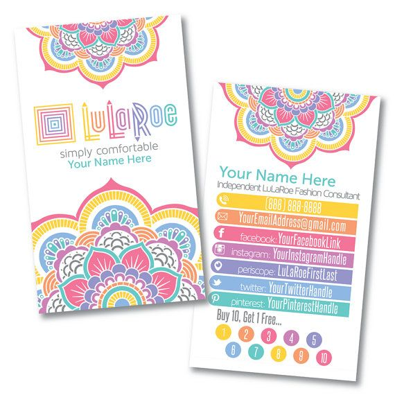 LuLaRoe Custom Business Card Design Home by LilStarletCouture ...