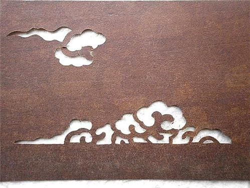 Vintage Japanese Stencil Clouds 2 by VintageFromJapan on Etsy