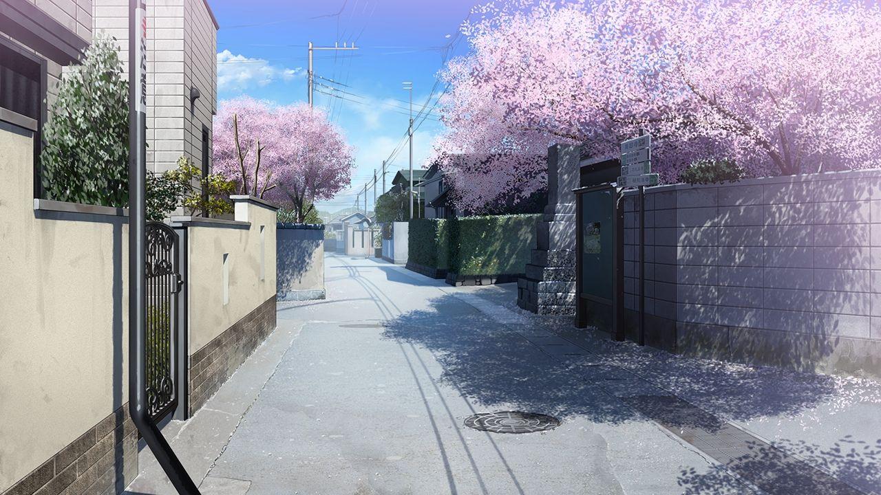 Картинки фон аниме улица