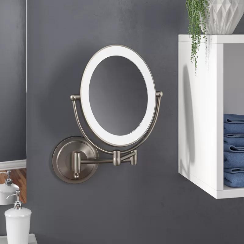 Pin By Kendtre On Master Bedroom In 2020 Bathroom Mirror Lights Wall Mounted Mirror Bathroom Mirror With Shelf