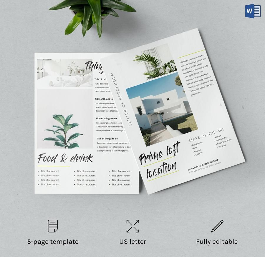 airbnb template host Templates, Brochure template