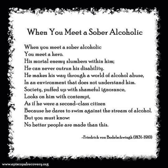 Recovering alcoholics and relationships