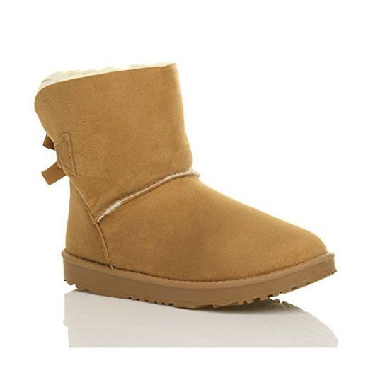 sports shoes 2b3d8 ac985 Damen Flach Gummisohle Winter Hausschuhe Mini-Stiefel ...