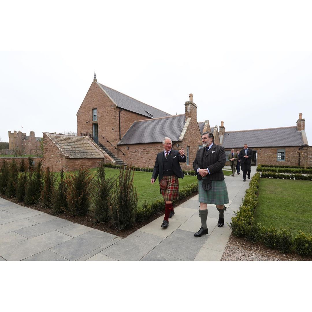 Today The Duke of Rothesay visited the castleofmey in