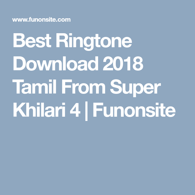 best ringtone for wife in tamil